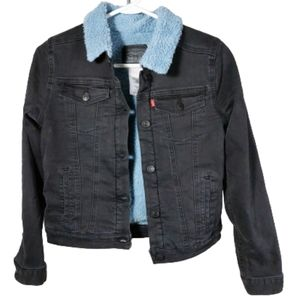 Levi's  Lined Denim Trucker Jean Jacket youth Sz L